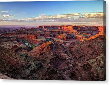 Canyons Of The Colorado Canvas Print by Jennifer Grover