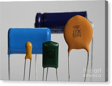 Capacitors Canvas Print by Photo Researchers