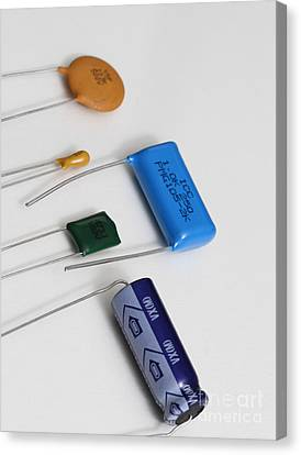 Capacitors Canvas Print by Photo Researchers, Inc.