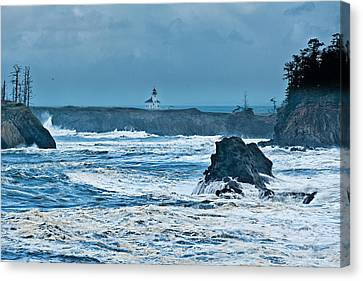 Cape Arago Light House Canvas Print by Alvin Kroon