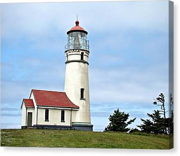 Canvas Print featuring the photograph Cape Blanco Lighthouse by Nick Kloepping