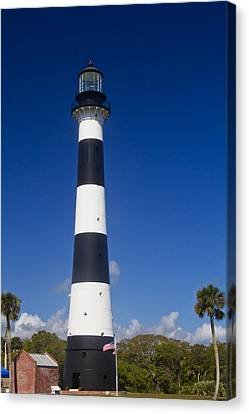 Cape Canaveral Lighthouse 2 Canvas Print by Roger Wedegis