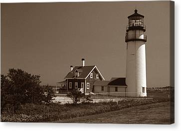 Cape Cod Lighthouse Canvas Print by Skip Willits