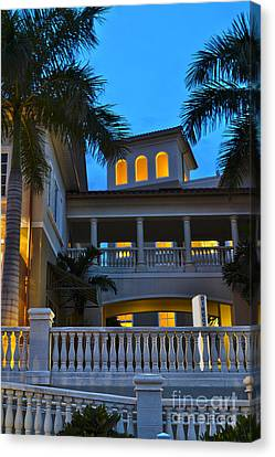 Canvas Print featuring the photograph Cape Coral Florida Architecture by Timothy Lowry