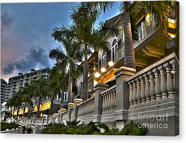 Canvas Print featuring the photograph Cape Coral Marina And Resort by Timothy Lowry