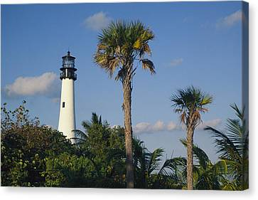 Cape Florida Lighthouse At Bill Baggs Canvas Print