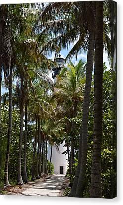Cape Florida Lighthouse Canvas Print by Brenda Thimlar