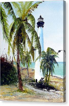 Cape Florida Lighthouse Canvas Print by Sibby S