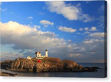 Nubble Lighthouse Canvas Print - Cape Neddick Nubble Lighthouse Maine by John Burk