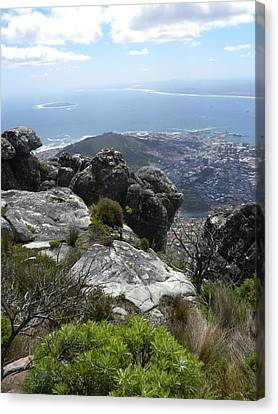 Cape Town And Robben Island Canvas Print