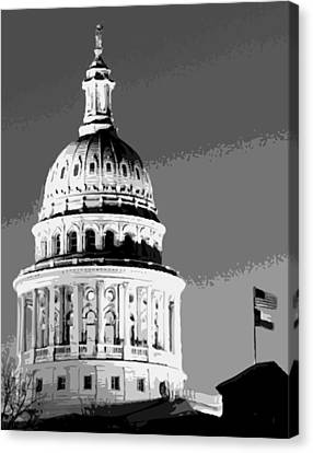 Capitol Dome Bw10 Canvas Print by Scott Kelley