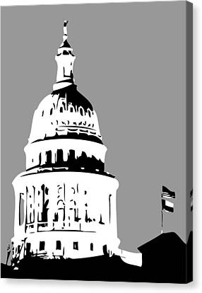 Capitol Dome Bw3 Canvas Print by Scott Kelley