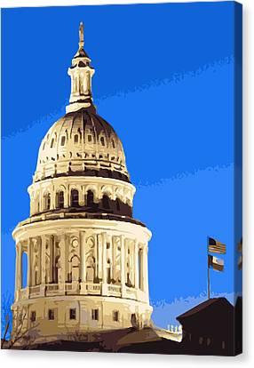 Capitol Dome Color 16 Canvas Print by Scott Kelley