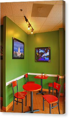 Capitol Hill Cafe Canvas Print by Steven Ainsworth