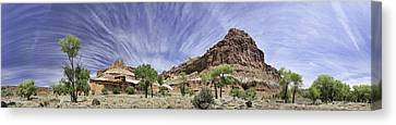 Canvas Print featuring the photograph Capitol Reef Cloud Show by Gregory Scott
