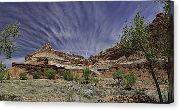 Canvas Print featuring the photograph Capitol Reef Sky Fan by Gregory Scott