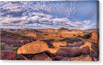 Capitol Reef Sunset Canvas Print by Stephen Campbell
