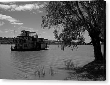 Captain Proud Paddle Steamer Canvas Print by Noel Elliot