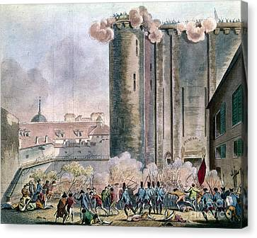 Capture Of The Bastille Canvas Print by Granger