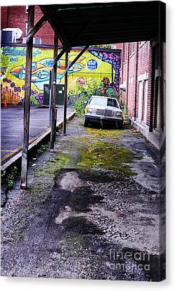 Car And Street Art Canvas Print by HD Connelly