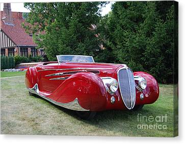 Car At Meadowbrook Canvas Print by Grace Grogan