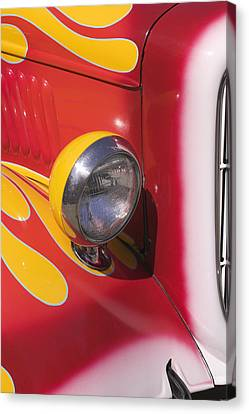 Car Headlight Canvas Print by Garry Gay