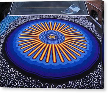 Car Hood Of Yarn Canvas Print by Kym Backland