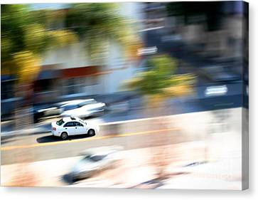 Car In Motion Canvas Print