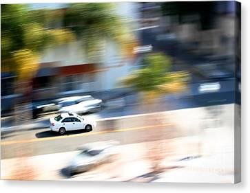 Car In Motion Canvas Print by Henrik Lehnerer