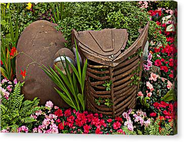 Car In The Garden Canvas Print by Garry Gay