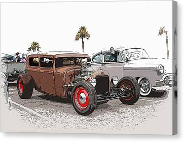Car Show Cool Canvas Print by Steve McKinzie