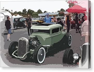Car Show Coupe Canvas Print by Steve McKinzie