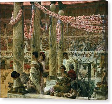 Caracalla And Geta Canvas Print by Sir Lawrence Alma-Tadema
