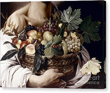 Caravaggio: Fruit, Canvas Print by Granger