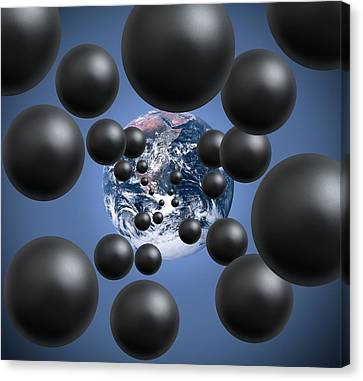 Carbon Dioxide And Climate Change Canvas Print by Victor De Schwanberg