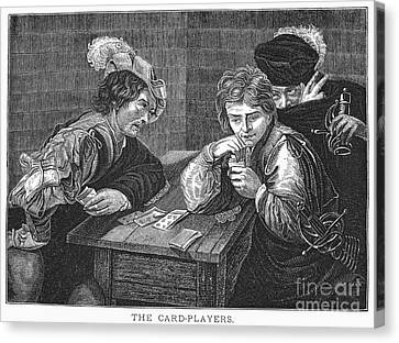 Card Players, C1594 Canvas Print by Granger