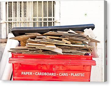 Cardboard Canvas Print - Cardboard  by Tom Gowanlock