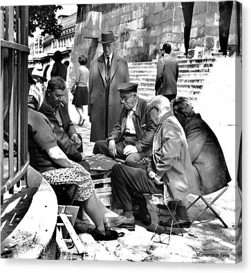 Cardgame Paris 1960 Canvas Print by Glenn McCurdy