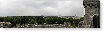 Cardiff Castle Panorama Canvas Print