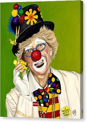 Careful The Clown Canvas Print by Patty Vicknair