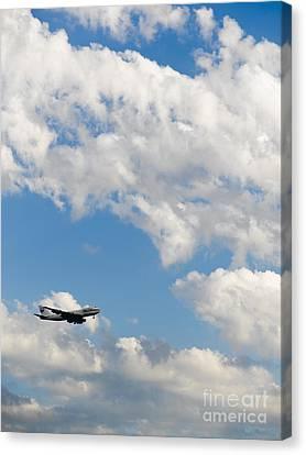 Cargo Jet In Flight Canvas Print by Tim Hawley