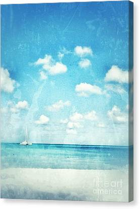 Caribbean Beach Canvas Print by Diana Riukas