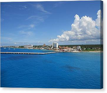 Canvas Print featuring the photograph Caribbean Blue by Sheila Silverstein