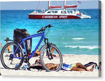 Caribbean Spirit Canvas Print by Dieter  Lesche
