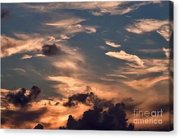 Caribbean Sunset Near Norman Island Canvas Print by Louise Heusinkveld