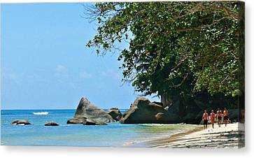 Canvas Print - Caribe Beach by Jenny Senra Pampin