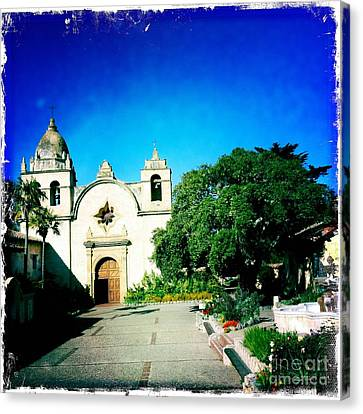 Canvas Print featuring the photograph Carmel Mission by Nina Prommer