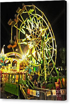 Carnival Ferris Wheel Canvas Print by Gregory Dyer