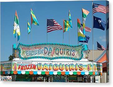 Carnival Festival Fun Fair Frozen Daiguiris Stand Canvas Print by Kathy Fornal
