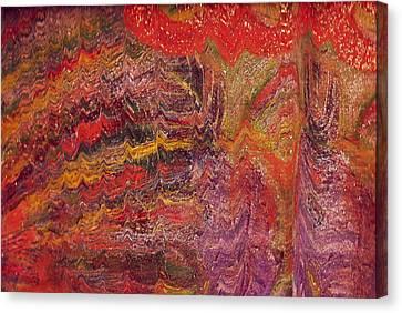 Carnival In My Mind Canvas Print by Anne-Elizabeth Whiteway